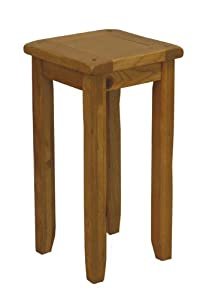 Rustic Oak End Tall Lamp Table Kitchen Home