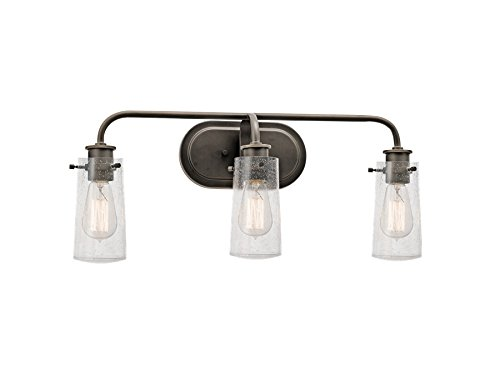 industrial bathroom lighting. kichler 45459oz three light bath industrial bathroom lighting a