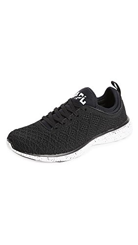 Apl: Athletic Propulsion Labs Mens Techloom Phantom Running Sneakers Zwart / Zwart Spikkel
