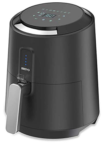 BREVO Digital Automatic Air Fryer Oil-Free Instant Fast Hot Air Frying with 8 Cook Presets Programmable Touch Control 1400W 2.7Qt For Sale