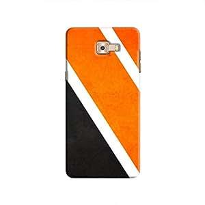 Cover It Up Orange Tile Hard Case For Samsung Galaxy C9 Pro, Multi Color