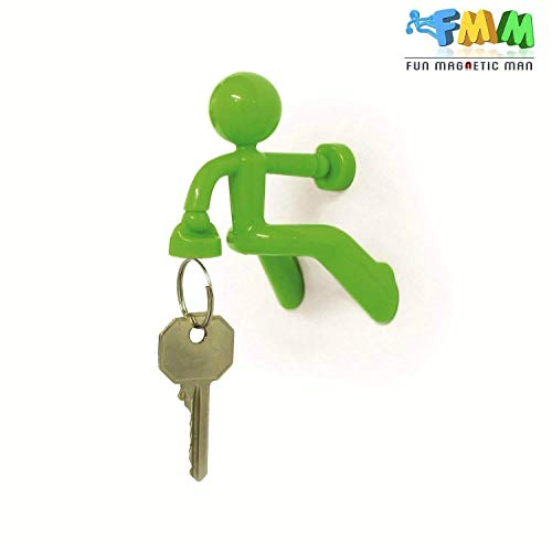 Fun Magnetic Man, Refrigerator Key Holder with Strong Magnet, Holds Up To 1.4 Pounds, Home Office Gift Decoration, 1-Pack