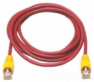 Allen Tel AT1518-REC Category 5e Ethernet Crossover Cable, 18-Foot Length, Red, AT15 Series, U/UTP Patch Cable, 2 Pair, 4 Stranded Copper Conductor