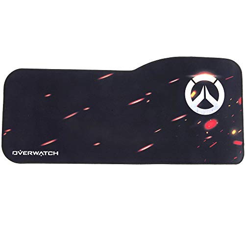 Overwatch Gaming Mouse Pad Professional Curved Extended Size Large Computer Laptop Keyboard Desk Mat Waterproof Mousepad with Stitched Edges Anti Slip Rubber Base for School Office Home (OW-Logo)