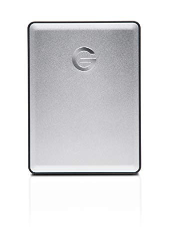 G-Technology 1TB G-DRIVE mobile USB 3.0 Portable External Hard Drive, Silver - 0G06071