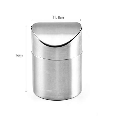 MSOO Stainless Desk Bin,Countertop Trash Can