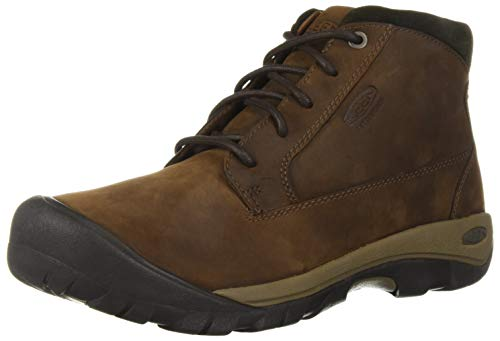 KEEN Men's Austin Casual Waterproof Fashion Boot, Chocolate Brown/Black Olive, 10 M US