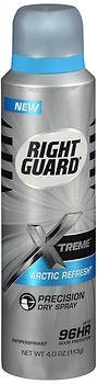 Right Guard Xtreme Precision Dry Spray Antiperspirant Arctic Refresh - 4 oz, Pack of 2