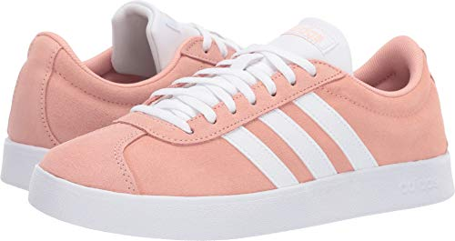 - adidas Women's Vl Court 2.0, dust Pink/White/Light Granite, 5 M US