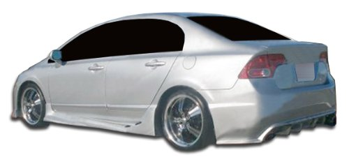 Duraflex ED-YXM-931 I-Spec Rear Bumper Cover - 1 Piece Body Kit - Compatible For Honda Civic 2006-2011