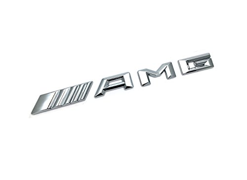 YIKA Original Size Car Logo Silve Badge Decal Emblem Car Sticker for Mercedes Benz AMG Sticker 4MATIC Rear Marker … 3D AMG