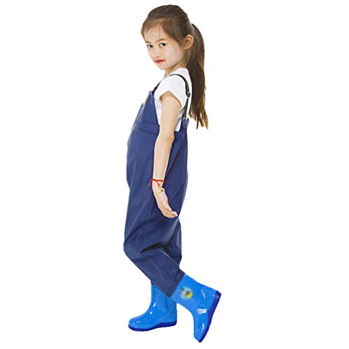 Jitong Kids Chest Waders Waterproof Youth Waist Waders with Boots Fishing Hunting Overalls Waders for Toddler Children…