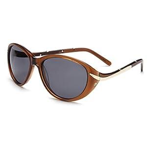 Laura Fairy Polarized Uv400 Women Acetate Sunglasses with Polaroid Gradient Lenses (brown)