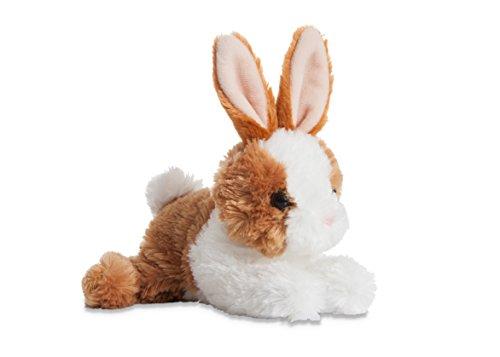 Aurora World Mini Flopsie Bunny Plush Toy, Brown/White