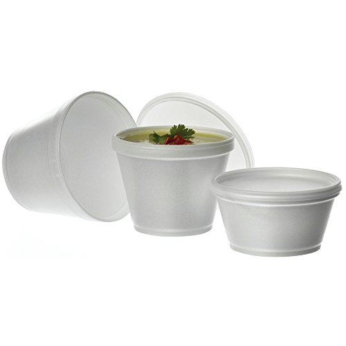 Styrofoam Soup Container Flat Lid8/12 oz 1000 Per - Styrofoam Containers Soup