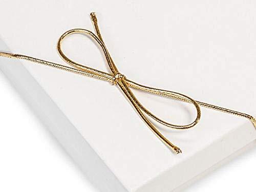 "Tkdream 100 Metallic Stretch Loop 1/16"" Round Elastic Cord w/Bow 19 inch & Metalic Gold Color from Tkdream"
