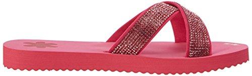 Flip Flop Cross*Glam, Women's Open Toe Sandals Pink (Geranium)