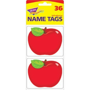 T-68080 - SHINY RED APPLE NAME TAGS by Trend Enterprises Inc