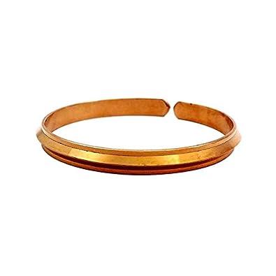 Sitare Copper Pure Adjustable Bracelet Free Size Punjabi Kada Sun