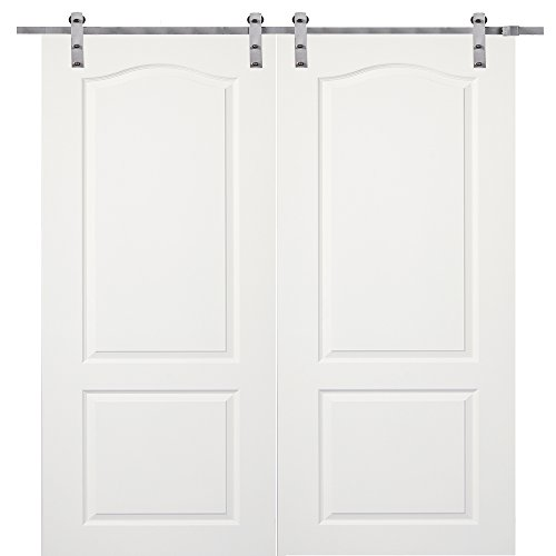 National Door Company Z009609 Solid Core Molded 2-Panel Archtop, Primed, 72'' x 80'', Barn Door Unit by National Door Company