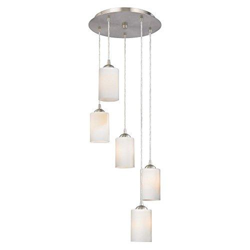 Multi Light Canopy (Modern Multi-Light Pendant Light with White Glass and)