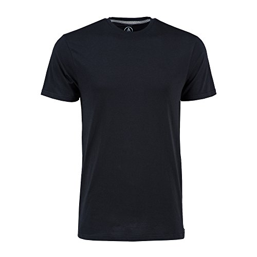 Volcom Men's Solid Short Sleeve T-Shirt, Black, XX-Large
