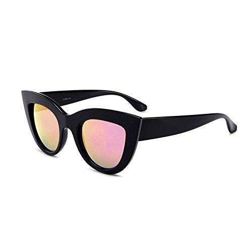 Épais De Miroir Femmes Soleil Cat Cadre Verres C10 Yefree Mode À Rétro Lunettes Eye qB81w