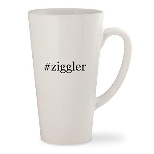 #ziggler - White Hashtag 17oz Ceramic Latte Mug Cup Song Coffee Grinder