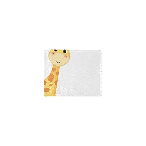 Anteriore Donne Animale Titolare Frizione Moneta Raffreddare Bambini Biglietto Fresco Visita Bambino Bifold Lether Portafoglio E Borsa Sacchetti Caso Viaggio Per Id Ragazze Giraffa Fermasoldi Uomini qxSxAF