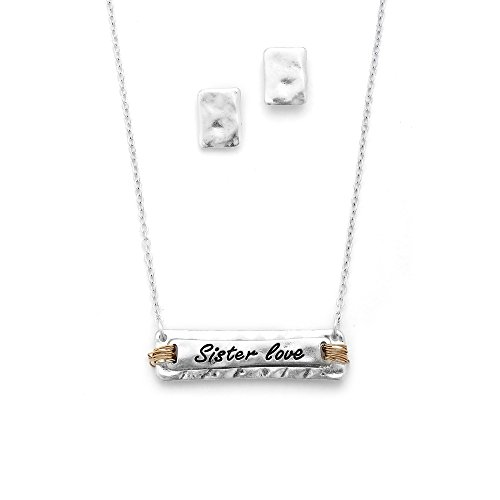 Mariell Sister Love Necklace Earrings product image