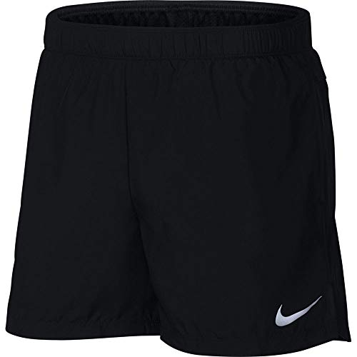 Nike Mens Challenger 5in Running Shorts, Black/Reflective Silver, Large …