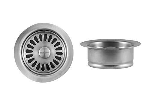 Blanco 441098 Silgranit faucet-flanges, 3-in, Satin Nickel ()