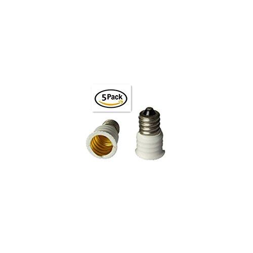 SEXOX E14 to E12 Adapter Converter Lamp Adapter (5 PCS)