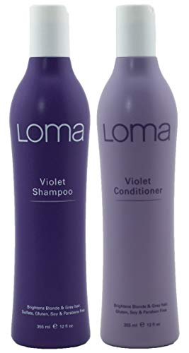 Loma Hair Care Champú violeta violeta acondicionador 12 oz Duo, 2 ct.