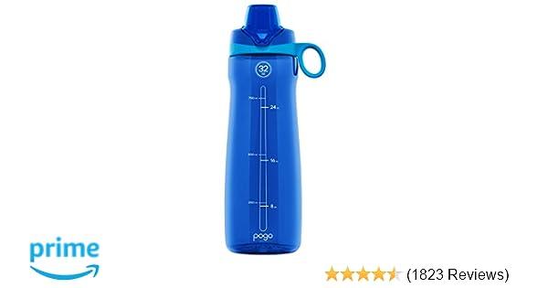 c22a54e02d Amazon.com : Pogo BPA-Free Plastic Water Bottle with Chug Lid, 32 oz. :  Sports & Outdoors