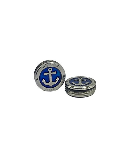 (Deluxe Parsaver Putter Weights - 15g Anchor Design Navy - Weights for Scotty Cameron Putters - Studio Select GoLo California Futura X Blade Mallet Style (15))