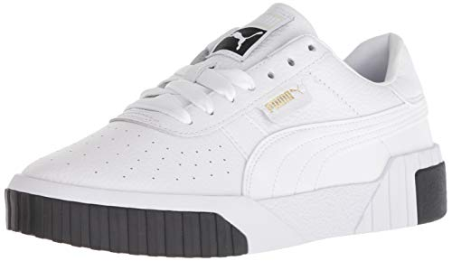 PUMA Women's CALI Sneaker, White Black, 9.5 M US