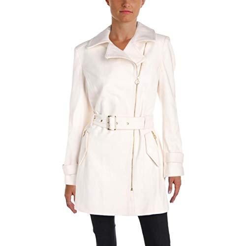 Ivory Wool Blend Jacket (Michael Michael Kors Womens Winter Wool Blend Pea Coat Ivory 10)