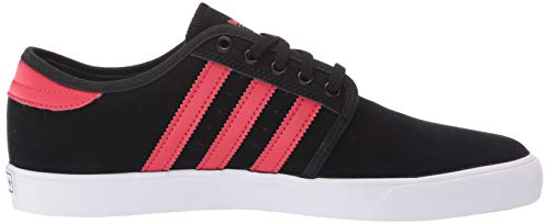 adidas Originals Men's Seeley Sneaker, core Black/Glory red/FTWR White, 4.5 M US