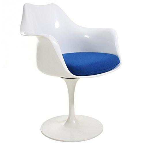 POLY & BARK EM-152-BLU-A Daisy Arm Chair, Blue