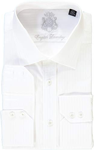 (English Laundry White on White Striped Dress Shirt (17 32/33))