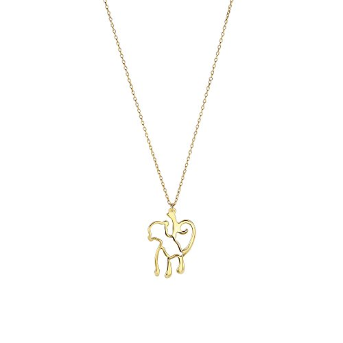 JewelStop 14k Yellow Gold 0.9-20mm Shiny Monkey Hanging Charm Pendant Necklace - 18