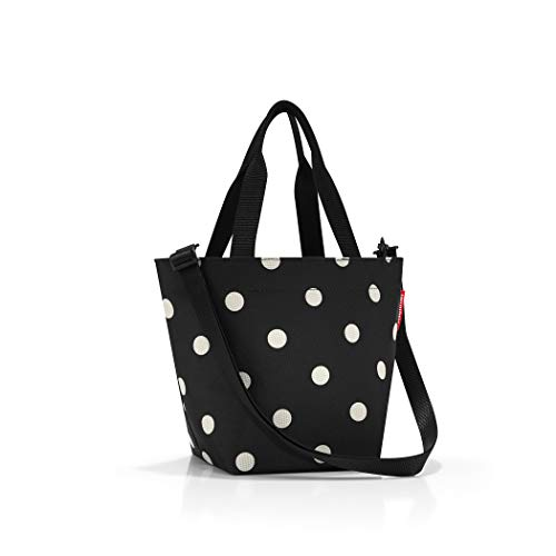 reisenthel Shopper XS, Extra Small Zippered Tote Bag with Shoulder Strap, Mixed Dots -