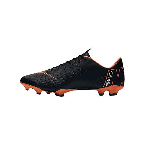 lowest price 9d1f4 c4dea Nike Mens Mercurial Vapor XII PRO FG Cleats - (BlackWhiteOrange) (11)