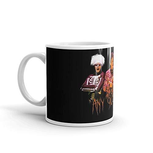 David S. Pumpkins - Any Questions? V Mug 11 Oz White Ceramic ()