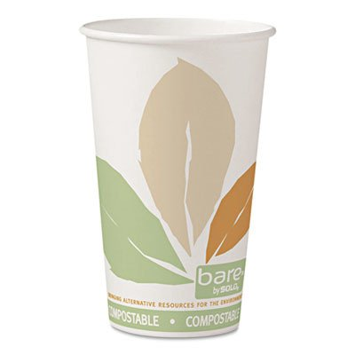 Solo 316PLA-J7234 16 oz Bare SSPLA Paper Hot Cup (Case of 1000) by Solo Foodservice (Image #1)