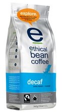 Ethical Bean Coffee Organic Decaf Dark Roast Whole Bean Coffee, 12 Ounce -- 6 per case.