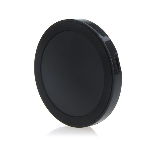 Mini Qi Wireless Charger Transmitter Pad for Google Nexus 4/5 Nokia Lumia 920 iPhone 4/4S Samsung S4 Ultrathin Slim with USB cable (Black)