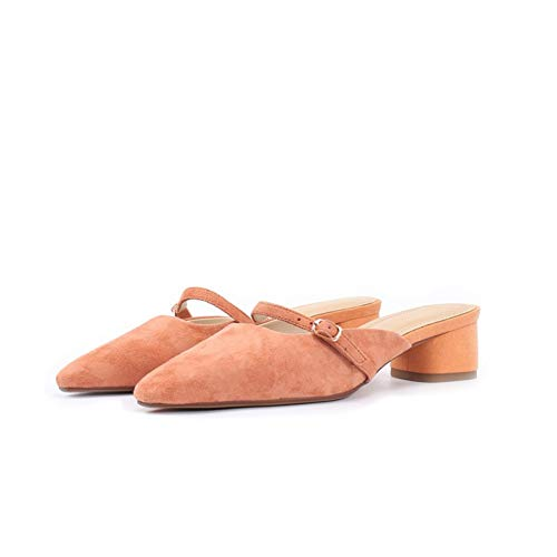 Pingxiannv Pantofole Stile Ciabatte Donna Scarpe Yellow Moda Da PYwqrCPf