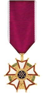 Medals of America Legion of Merit Medal Miniature Anodized (Coast Guard Good Conduct Ribbon)